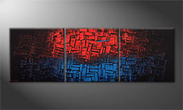 Arte moderna 'Heated Blue' 210x70cm