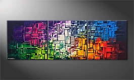 Arte moderna 'Invasion Of Colors' 210x70cm