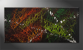 Arte moderna 'Jungle Fever' 150x70cm