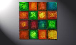 'Colorful Cubes' 80x80cm quadro