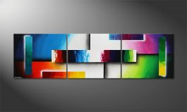 'Colour Construction' 210x60cm quadro moderno