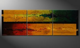 Dipinto moderno 'Blowing Elements' 150x50cm