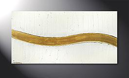 'Golden Wave' 120x60cm quadro