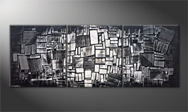 La bella pittura 'Night Lights' 210x80cm