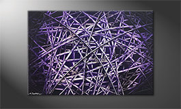La bella pittura 'Purple Lines' 120x80cm