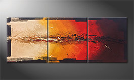 La bella pittura 'Set On Fire' 180x70cm