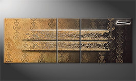 La bella pittura 'Shinning Gold' 220x80cm