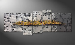 La nostra pittura 'Golden Moves' 210x80cm