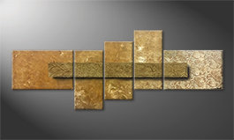 La nostra pittura 'Golden Treasure' 210x80cm
