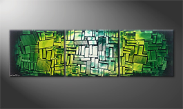 La nostra pittura 'Green Hope' 210x60cm