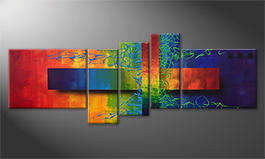 La nostra pittura 'Playful Rainbow' 160x60cm
