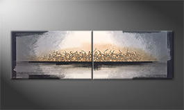 La nostra pittura 'Whispering Light' 200x60cm