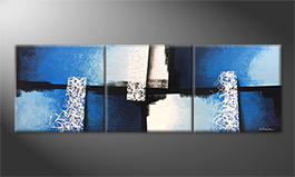 La pittura esclusivo 'Light Fountains' 210x70cm