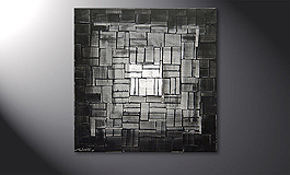 'Light Cube' 80x80cm quadro