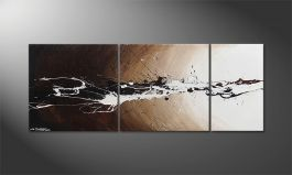 'Light Eruption' 130x50cm quadro
