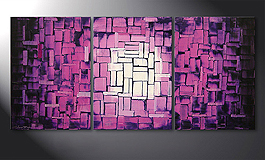 'Purple Afterglow' 150x70cm quadro