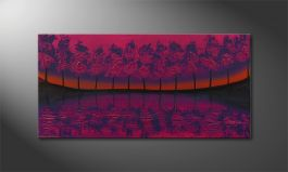'Purple Tree' 120x60cm quadro