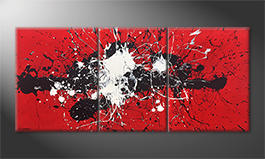 Quadro 'Battle Of Opposites' 200x90cm