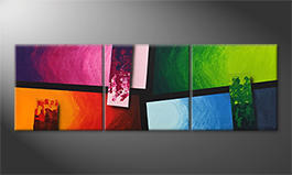 Quadro 'Color Blocs' 150x50cm