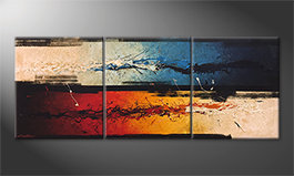 Quadro 'Fire vs. Ice' 180x70cm