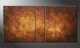 Quadro 'Golden Canyon' 160x80cm