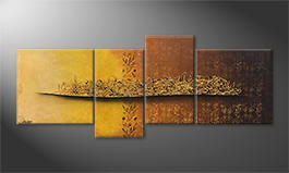 Quadro 'Golden Nights' 200x80cm