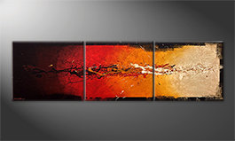 Quadro 'Rage Of Earth' 210x60cm