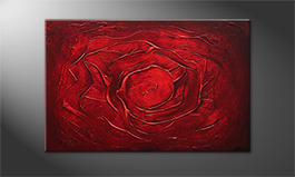 Quadro 'Red Rose' 120x80cm