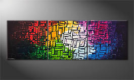 Quadro da soggiorno 'Colors Of Light' 210x70cm
