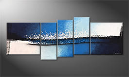 Quadro da soggiorno 'Enlightened Wave' 210x80cm