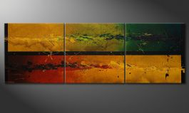 Quadro deco 'Blowing Elements' 240x80cm