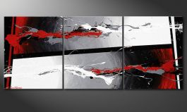 Quadro deco 'Powerful Contrast' 120x50cm