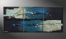 Quadro moderno 'Against The Drift' 180x80cm