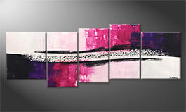 Quadro moderno 'Broken Purple' 220x80cm