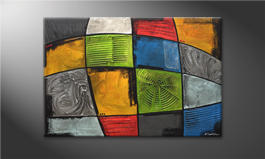 Quadro moderno 'Different Minds' 120x80cm