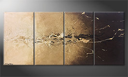 Quadro moderno 'Earth Splash' 160x70cm