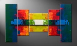 Quadro moderno 'Enlightened Colors' 170x100cm