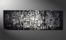 Quadro moderno 'Enlightened Cubes' 210x70cm