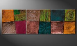 Quadro moderno 'Facets of Life' 150x50cm
