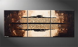 Quadro moderno 'Glowing Splash' 180x70cm