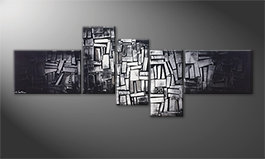 Quadro moderno 'Light Cubes' 210x80cm