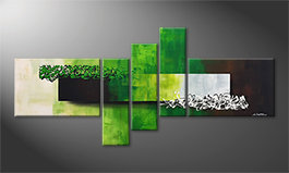 Quadro moderno 'Playful Meadow' 210x80cm