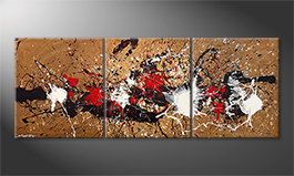 Quadro moderno 'Rage Of Earth' 180x70cm