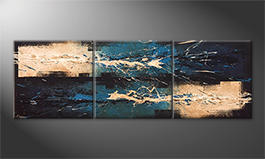 Quadro moderno 'Water Lights' 210x70cm
