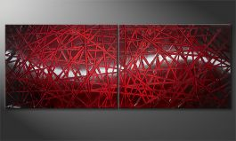 'Red Push' 160x60cm quadro