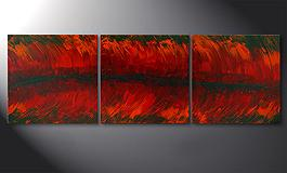 'Riven Red' 180x60cm quadro