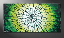 quadro moderno 'Center of Jungle' 100x50cm