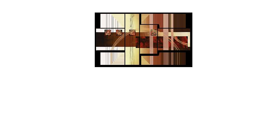 Golden Ways 130x70cm quadro da soggiorno - Quadri XXL