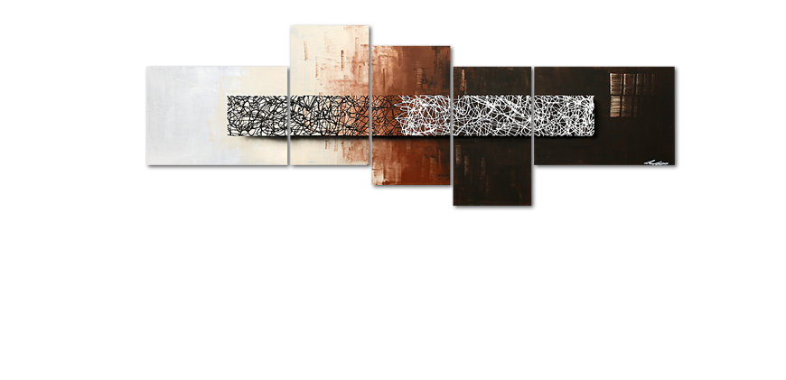 quadro da soggiorno Day at Night 260x90cm - Quadri XXL