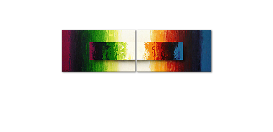 Battle of Colours 200x60cm dipinto moderno